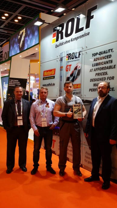Моторные масла ROLF на международной выставке Automechanika в Дубаи.