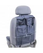 Защита спинки сиденья-органайзер SKYWAY ПВХ 7карманов Серый
